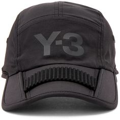 Y-3 Yohji Yamamoto Foldable Cap ($80) ❤ liked on Polyvore featuring men's fashion, men's accessories, men's hats, men's brimmed hats and mens caps and hats
