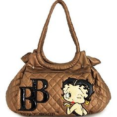 Free Ship Officially Licensed Betty Boop Bronze Quilted Shoulder Bag