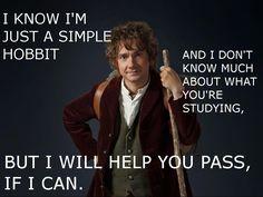 Bilbo will help you! ^_^ #Hobbit #Bilbo @Becky Baek