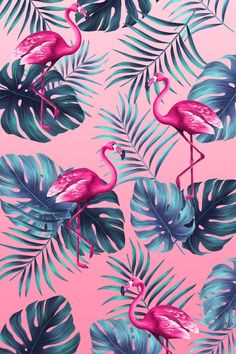 Funny tropical print in hand painted style with pink flamingo Free Psd Flower Background Wallpaper, Cute Wallpaper Backgrounds, Wallpaper Iphone Cute, Flower Backgrounds, Aesthetic Iphone Wallpaper, Cute Wallpapers, Aesthetic Wallpapers, Background Patterns Iphone, Cute Summer Wallpapers