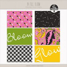 Quality DigiScrap Freebies: In Full Bloom journal cards freebie from Digital Design Essentials