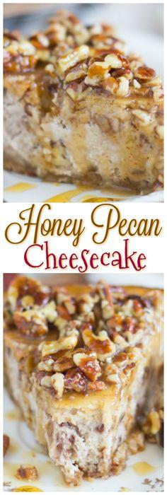 Honey Pecan Cheesecake thegoldlininggirl pin 1