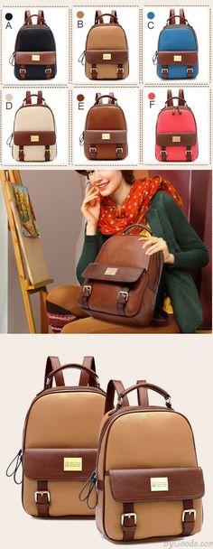 Retro Elegant Girl College Backpack for big sale! #retro #elegant #college #Backpack #Bag #fashion