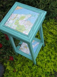 green cricket salvage: projects - I am going to have to look for a plant stand to do this.