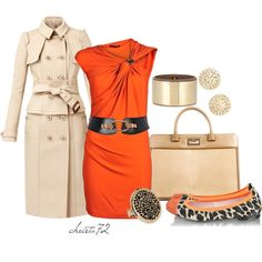 """Animal Orange"" by christa72 on Polyvore"