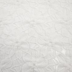 Off White Aaliyah Flower Pattern Lace Fabric by the yard Cotton Lace - Pattern Aaliyah - 1 Yard Style 351