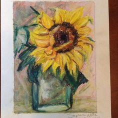 Sunflowers are so happy.  #art #drawing #doodle #sketch #pastel #painting #oilpastel #sunflower #floral #yellow #young_artists_help #showyourwork #art_we_inspire #arts_gallery #moanart #dailyarts #artistdrop #art_share #ristic_feature