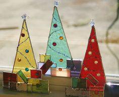 Stained Glass Christmas Tree Ornament (via Stained Glass Christmas Tree Ornament Green w/ by GaleazGlass)