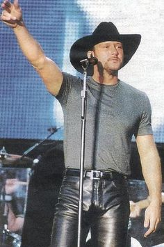 Tim McGraw and in leather!