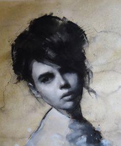 Head Study - charcoal/mixed media - Neil Nelson
