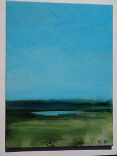 Fine Art Landscape Painting, original painting,  contemporary art, acrylic painting, modern art 16X20