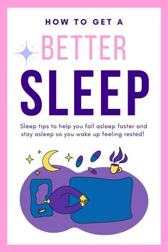 How to improve your sleep habits so you sleep well and feel rested! How to get a better sleep! How to fall asleep faster! Try these sleep tips! Fall asleep fast, insomnia tips, insomnia remedies, things that help you sleep, healthy sleep hygiene, sleep routine, evening routine, self care routine, how to sleep better, health, wellness, healthy lifestyle, evening routine, relaxation techniques, make you fall asleep faster, can't sleep #sleep #health #insomnia #selfcare #wellness… Can't Sleep, Sleep Well, Good Sleep, Insomnia Remedies, Sleep Remedies, How To Fall Asleep Quickly, Best Sleep Mask, Sleep Rituals, Healthy Starbucks Drinks