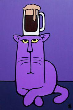 Mr Goodhead bigcatheads.deviantart.com Acrylics