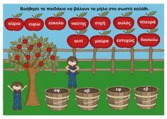 Πρώτο  Κουδούνι- Ακουστική  Διάκριση  αυ-ευ Greek Language, Second Language, Activities For Kids, Crafts For Kids, Learn Greek, School Levels, School Hacks, Grammar, Preschool