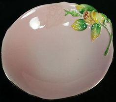 Royal Winton Grimwades Pink Bowl Yellow Rose Bud Bowl Vintage raised rose