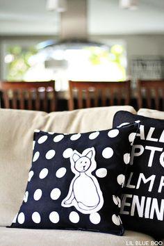 Art transformed into fun pillows.