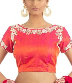 Buy latest readymade Blouse Designs, Ready To wear for all occasion, Shop Saree Blouse from Indian Silk House Agencies Official Online Store. Blouse Designs Silk, Saree Blouse Patterns, Sari Blouse, Designer Blouses Online, Peach Saree, Stylish Blouse Design, Indian Blouse, Indian Designer Wear, Blouse Styles