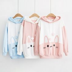 Kawaii Bunny Ears Harajuku Hoodie - Limited Edition - KawaiiTherapy - Kawaii Bunny Ears Harajuku Hoodie – KawaiiTherapy Source by CatPrinceLu - Harajuku Fashion, Kawaii Fashion, Lolita Fashion, Cute Fashion, Fashion Outfits, Fashion Styles, Harajuku Girls, Hoodie Sweatshirts, Fashion Sweatshirts