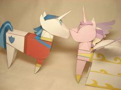 Shining Armor + Cadence doll papercrafts by ~RocketmanTan on deviantART
