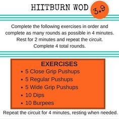 3.9 brings you push-up domination dips and burpees! Do the dips on a chair or bench if you are doing the workout at home! #hiitburn #hiit #hiitworkout #hiittraining #workout #workoutoftheday #wod #pushups #dips #burpee #burpees #iloveburpees #bodyweight #bodyweighttraining #bodyweightworkout #bodyweightexercises #fit #fitfam #fitcouple #fitcouples #fitlife #fitlifestyle #homeworkout #gym #gymtime #gymlife by hiitburn