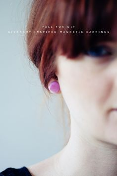Fall For DIY Givenchy Inspired Magnetic Earring tutorial
