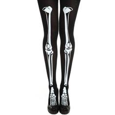 skeleton black tights ❤ liked on Polyvore featuring intimates, hosiery, tights, socks, leggings, tights & leggings, bottoms, skeleton stockings, skeleton pantyhose and skeleton tights