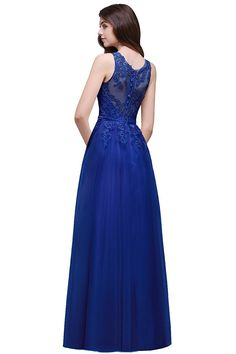3a1c390b9c Babyonlinedress Women Lace Evening Gowns Long Backless Cocktai Party  GownRoyal BlueSize 6 -- Check out