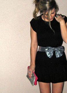 Love her style - best DIY website too... sequin-bow-belt by ...love Maegan, via Flickr