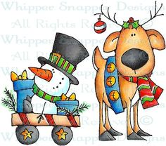 Dasher & Mini-Me - Christmas Images - Christmas - Rubber Stamps - Shop