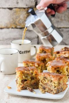 Bake your favorite treats with our many sweet recipes and baking ideas for desserts, cupcakes, breakfast and more at Cooking Channel. Love Food, A Food, Food And Drink, Fall Recipes, Sweet Recipes, Walnut Cake, Delicious Deserts, Sweet And Salty, Dessert Recipes