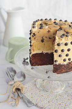 Receta de Tarta de cookie dough, vainilla y chocolate