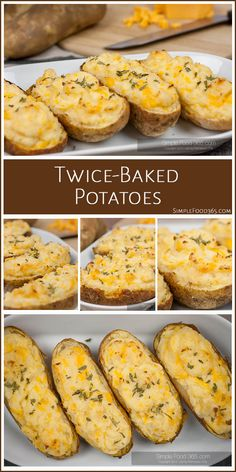 A hearty and fun side, Twice-Baked Potatoes are a favorite here. The basic recipe is easy to put together and if you want to really load them up, you can add just about anything you can imagine. Create a potato bar and let the kids have some fun too! | SimpleFood365.com