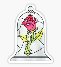 Rose from beauty and the beast Sticker