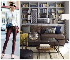 Couro: fashion x decor #decor #fashion #couro #casadasamigas