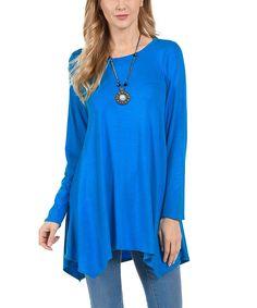 Blue Handkerchief Tunic - Plus