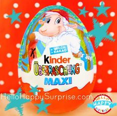 Cute Kinder Surprise Maxi Egg ♥ www.HelloHappySurprise.com