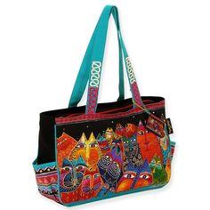Amazon.co.jp: [ローレルバーチ] LAUREL BURCH キャンバス トートバッグ ミディアムトート FANTASTICATS Medium Tote: シューズ&バッグ:通販