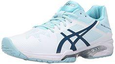 ASICS Women's Gel-Solution Speed 3 Tennis Shoe, White/Blue Steel/Crystal Blue, 6 M US * Visit the image link more details.