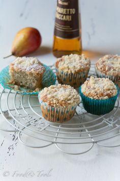 Pear and Amaretto muffins