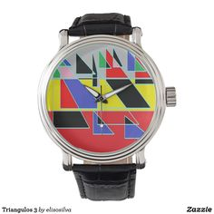 Triangulos 3 reloj de mano