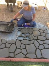 Outdoors Discover 42 Easy DIY Pavement Molds for Backyard Design - Easy Diy Garden Projects Home Landscaping Front Yard Landscaping Backyard Patio Diy Patio Steep Backyard Sidewalk Landscaping Desert Backyard Sloped Backyard Backyard Seating Patio Steps, Patio Diy, Pergola Patio, Backyard Patio, Modern Pergola, Pergola Ideas, Budget Patio, Steep Backyard, Desert Backyard