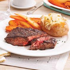 Bavettes de boeuf marin Confort Food, Light Recipes, Mayonnaise, Cooking Time, Steak, Bbq, Brunch, Yummy Food, Yummy Recipes
