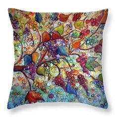 Vineyard Throw Pillow featuring the painting Fall Vineyard by Luiza Vizoli Gold Pillows, Pillow Sale, Poplin Fabric, Decorative Throw Pillows, Fine Art America, Vineyard, Stylish, Random, Fall
