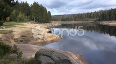 4k Autumn season great lake nature pan mountain range Harz - Stock Footage | by Beckhusen.  One of my actual major projects is the growing collection with stock video footage of the mountain range HARZ in Germany and the just online going website for this.