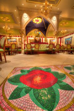 The beautiful Be Our Guest restaurant