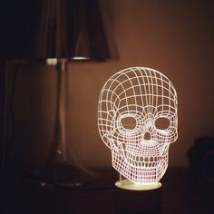 Lampe Bulbing Tête de Mort 3D