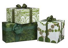Green gift wrap