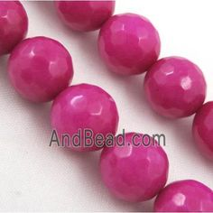 Quartzite stone bead, stability, faceted round, hotpink dia, approx per st Rios, Jade Beads, Stone Beads, Stability, Saints, 1