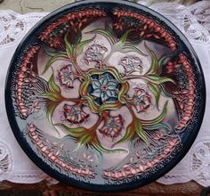 Spectacular Moorcroft Pottery Gypsy Pattern Charger Large Plate Rachel Bishop | eBay