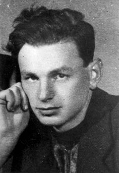Poland, A portrait of Yitzhak Antek Zuckerman, one of the leaders of the Warsaw Ghetto Uprising.